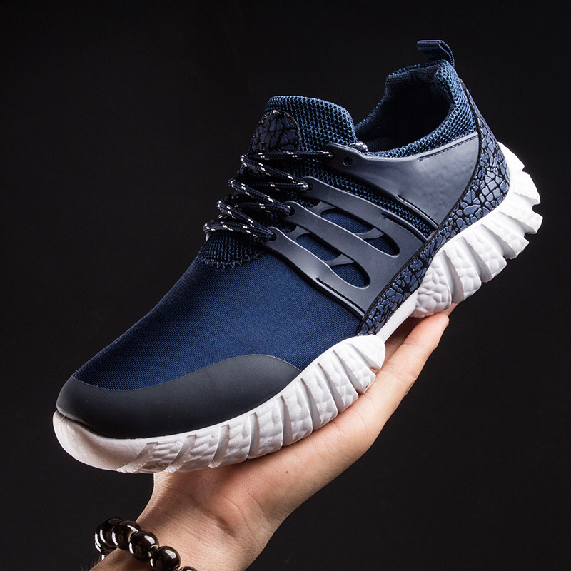 Spring/summer hot casual shoes mens new soft bottom comfortable trend shoes flying woven breathable mens shoes