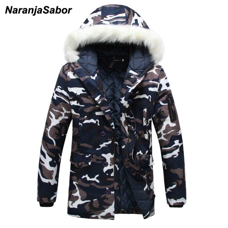 NaranjaSabor 2017 Winter Thick Camouflage font b Men s b font Coats Hooded Army font b