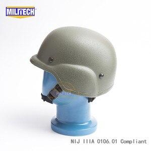 Image 3 - Militech OD Oliver Drab PASGT NIJ IIIA 3Aเต็มรูปแบบBallistic Bulletproof Aramid Bullet Proofหมวกกันน็อกLabการทดสอบวิดีโอ