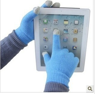 DHL free shipping quality Magic Touch Screen Knit Glove smartphone Texting Stretch Adult Winter gloves1000pcs=500pair