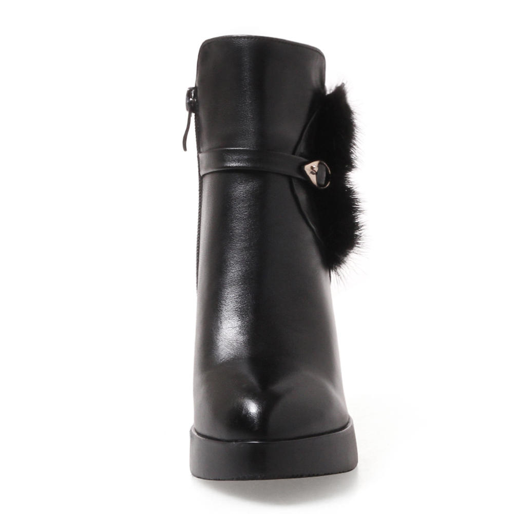 Nueva 33 Fur White Fur Moda Fur Al red Cremallera Plataforma black Grande De Alto Dropship Mayor Talla With Botas 43 Zapatos Hasta Mujer red Por Sarairis Tacón Con white black twnqXRCx