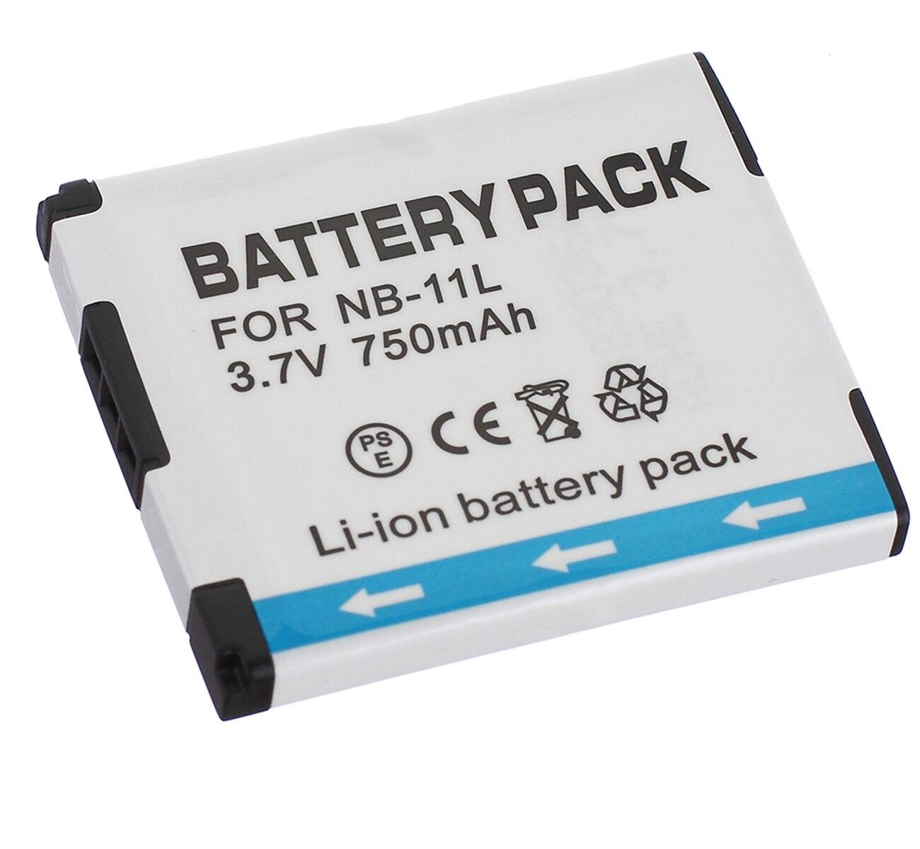 Pack de bateria para Canon IXUS 132, 135, 140, 145, 150, 155, 160, 162,165, IXUS 170, 172, 175, 177, 180, 185, 190 Câmera Digital