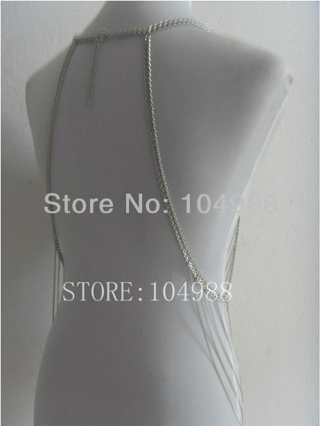 New STYLE BY-127 Trendy Western Ladys Chain Tassel Choker Bib Body Chains Jewelry Sweater Harness Gold/Silver Colour