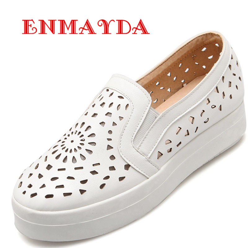 ENMAYDA New font b Women b font Spring and Autumn Cut outs Round Toe Flats Shoes