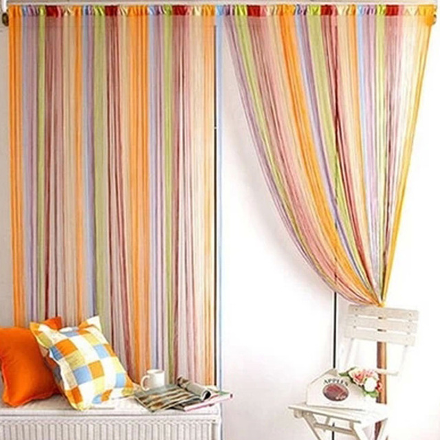 2017 New Mixed Colors Line Curtain Indoor Upscale Decor Hotel Bedroom Multicolor Optional