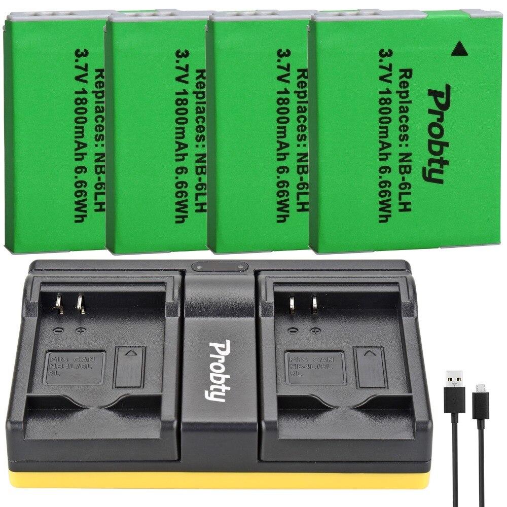 Canon PowerShot D10 Cargador SX500 IS 300 HS S95 95 IS SX260 HS Bater/ía NB-6L para Canon Digital Ixus 85 IS 310 HS S90 200 IS D20 SX270 HS SX280 HS 210 IS 105 SX240 HS