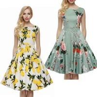 Summer Fashion Trend In Europe And America Slim Put On A Large Printing Sleeveless Long Dress