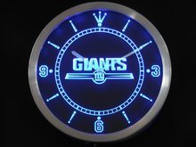 Nc0510 New York Giants Enseigne Au Néon Horloge Murale LED Dropshipping