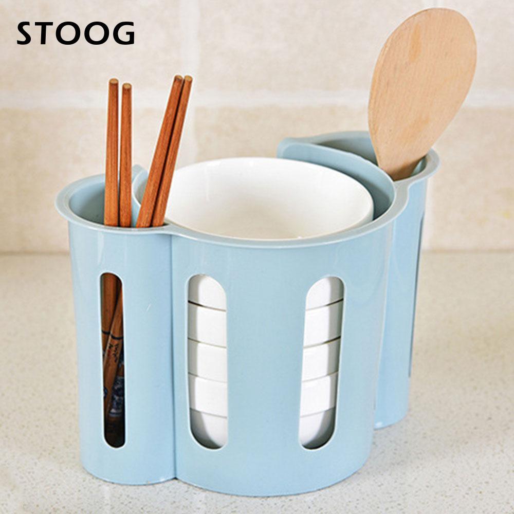 Cutlery Storage Holder Kitchen Organizer 2 Color Durable Plastic ...