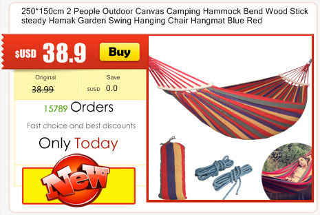 Portable Garden Nylon Hammock Swinghang Mesh Net Sleeping Bed Hamaca Outdoor Travel Camping Hamak Blue Green Red Hamac Camp Sleeping Gear Sports & Entertainment