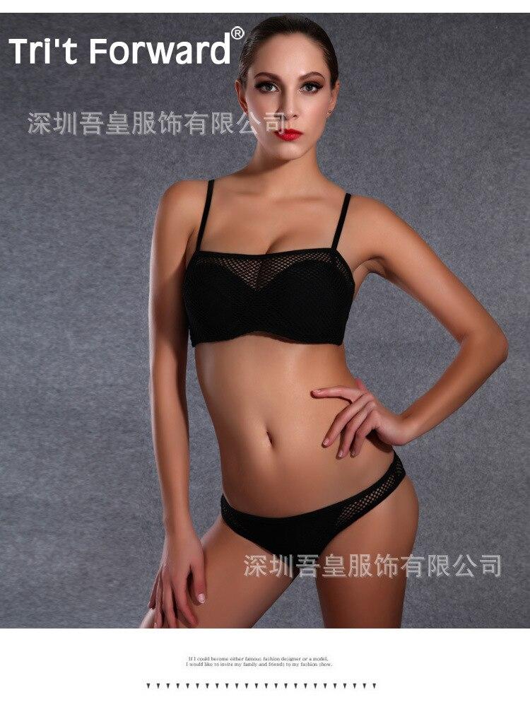 Top Bikini 2016 Set Push up Swimwear Brazilian Beach bathing suit Sling Sexy Hollow Two piece