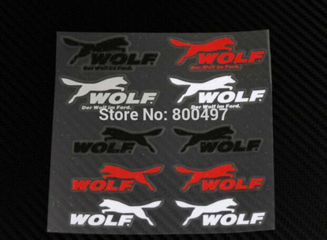 Us 2899 10 X Newest Car Styling Wolf Decal Decoration Stickers For Ford Focus St Fiesta St Focus Rs In Car Stickers From Automobiles Motorcycles