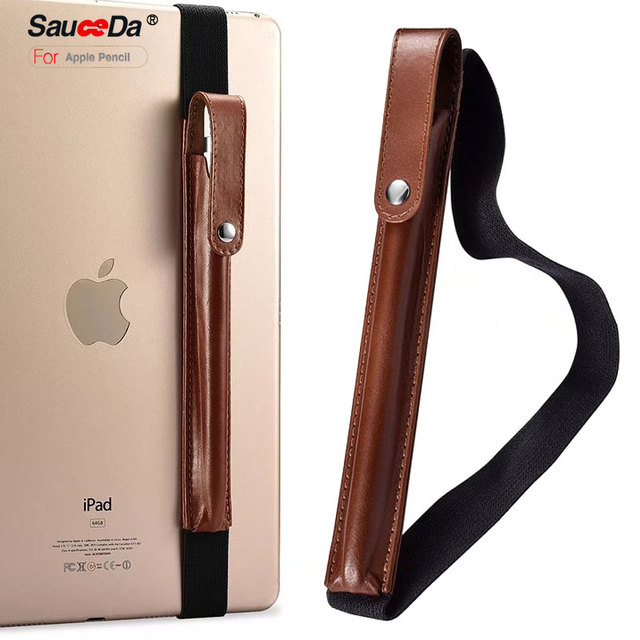 hot sale online fd02e 2298c US $10.99 |SauceDa Tablets Pen Sleeve Holder for Apple Pencil Genuine  Leather Cover Handmade bag pouch for ipad pro 9.7 10.5 inch No pencil-in  Tablets ...