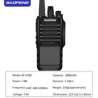 cb רדיו Baofeng מכשיר הקשר BF 9700 Waterproof שני הדרך רדיו UHF 400-520MHz כף יד Ham Hf משדר BF 9700 CB רדיו תחנת (3)