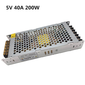 Ultra-thin Switch power supply 5V 40A 200W Superior protection Source Transformer AC DC SMPS for Led strip disply monitr