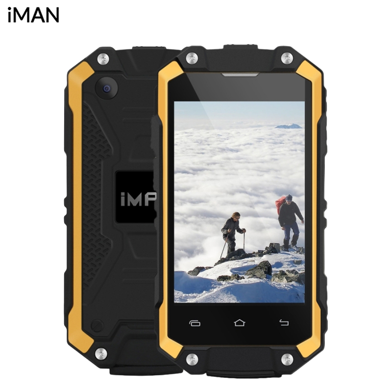 Original iMan X2 Mobile phone Waterproof IP65 2.45 inch 1GB RAM 8GB ROM MTK6580 Quad Core Android 5.1 1050mAh 3G Smartphone