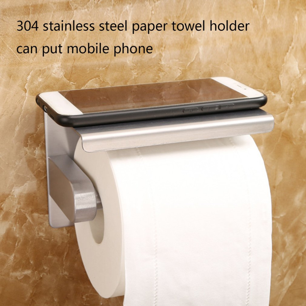 Paper Holders Bathroom Fixtures Automatic Paper Towel Holder Smart Dispenser Mounts Under Cabinets For Home And Office Use Stainless Steel Finish
