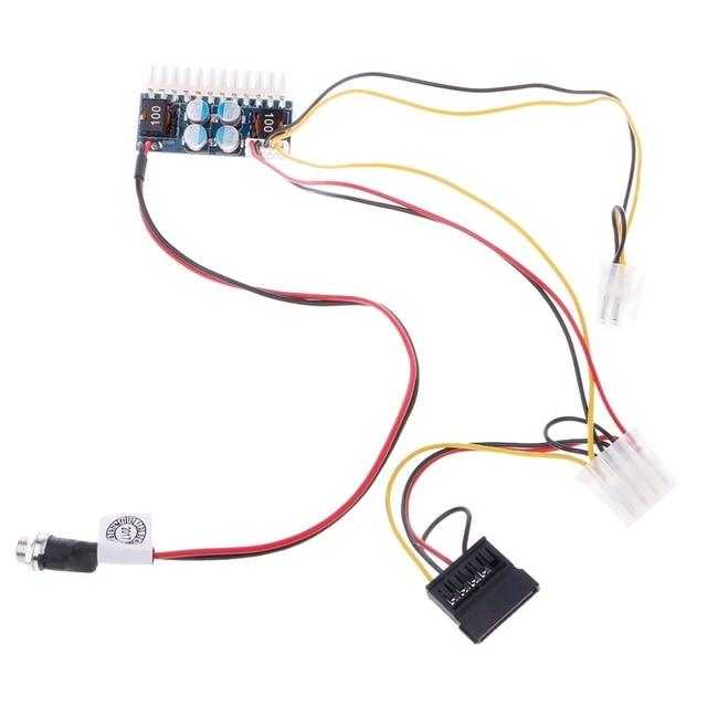 new dc 12v 160w 24 pin atx switch psu car auto mini itx power supplynew dc 12v 160w 24 pin atx switch psu car auto mini itx power supply module cable atx power supply c26