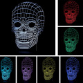 New Arrival 3D Vision Atmosphere Night Lights Skull Shape Touch Led living/bedroom table/desk Lamp Kids Novelty Toy Gift Present