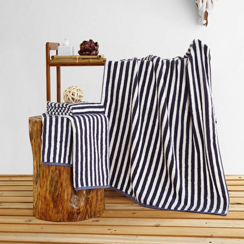 The new 100% cotton must have three piece suite, home bathroom, striped queen queen bath set, free mail quality assurance.