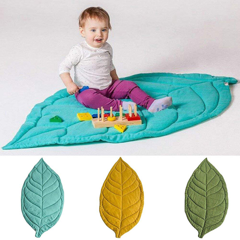 Hot Sale Newborn Baby Leaf Shape Soft Crawling Carpet Play Mat Kid's Room Decoration Baby Soft Pad Game Blanket Toy Mat