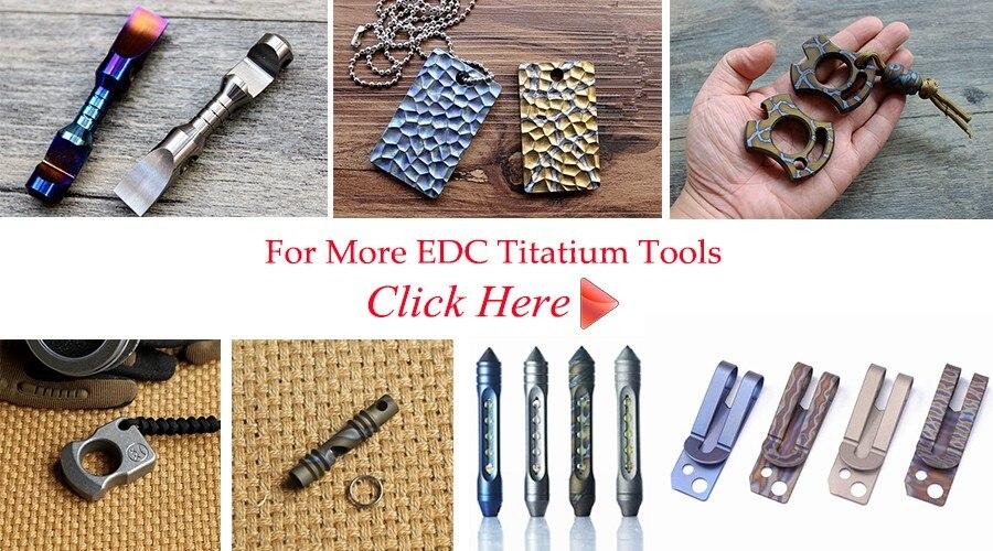 EDC Titatium tools