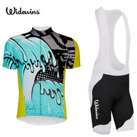 Sea wave team 2017 cycle Jersey Set ciclismo tenue cycliste pro equipe homme maillot culotte with 9D gel pad 5409