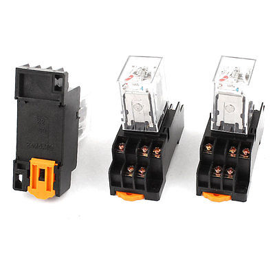 Подробнее о 3 Pcs AC 220-240V 3PDT 11 Pins Red LED General Purpose Power Relay w Socket Base  Free Shipping free shipping ac 220 240v coil 3pdt 11 pin red led lamp general purpose power relay