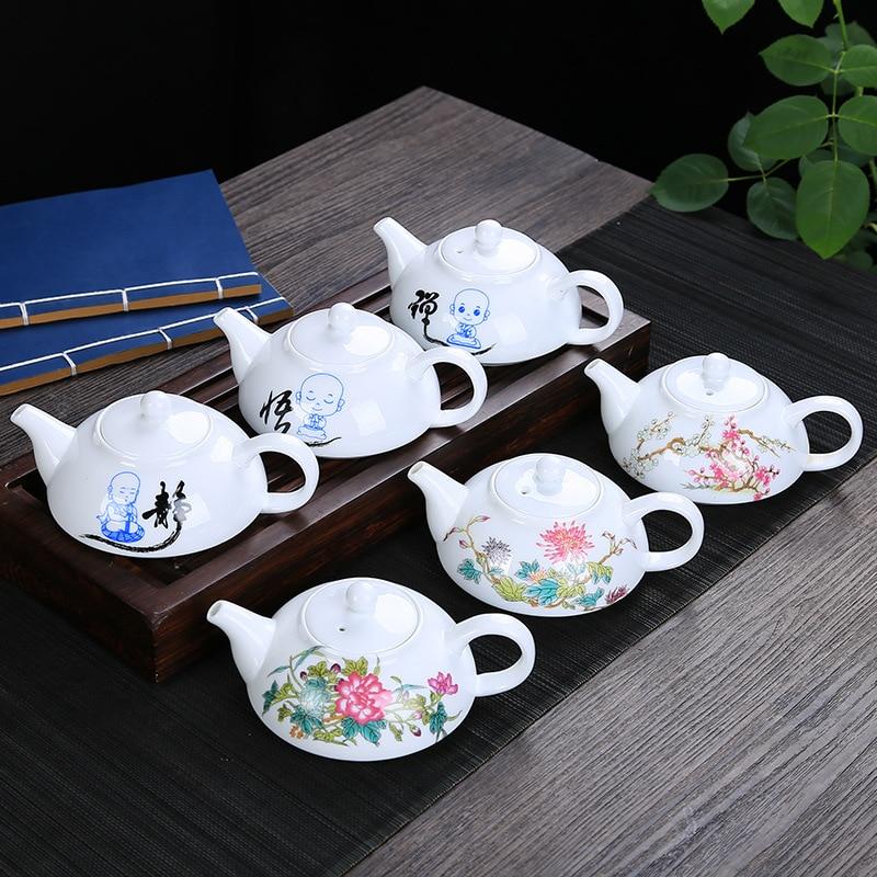 Exquisite Blue and white porcelain tea pot,Chinese traditional landscape pattern tea pot Ceramic Flower Teapot Kettle