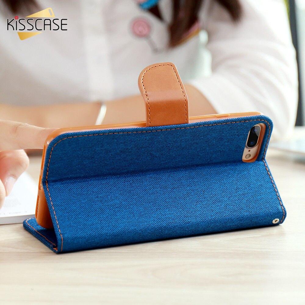 KISSCASE Libro Flip Paño de Cuero Piel Caso Para el iphone 6 7 6 S Accesorios de