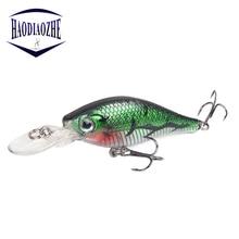 Купить с кэшбэком 1pcs Minnow Fishing Lures 3D Eyes Floating Laser Hard Bait Aritificial Wobblers Crankbait Plastic Baits Pesca Isca 8.5cm 6g