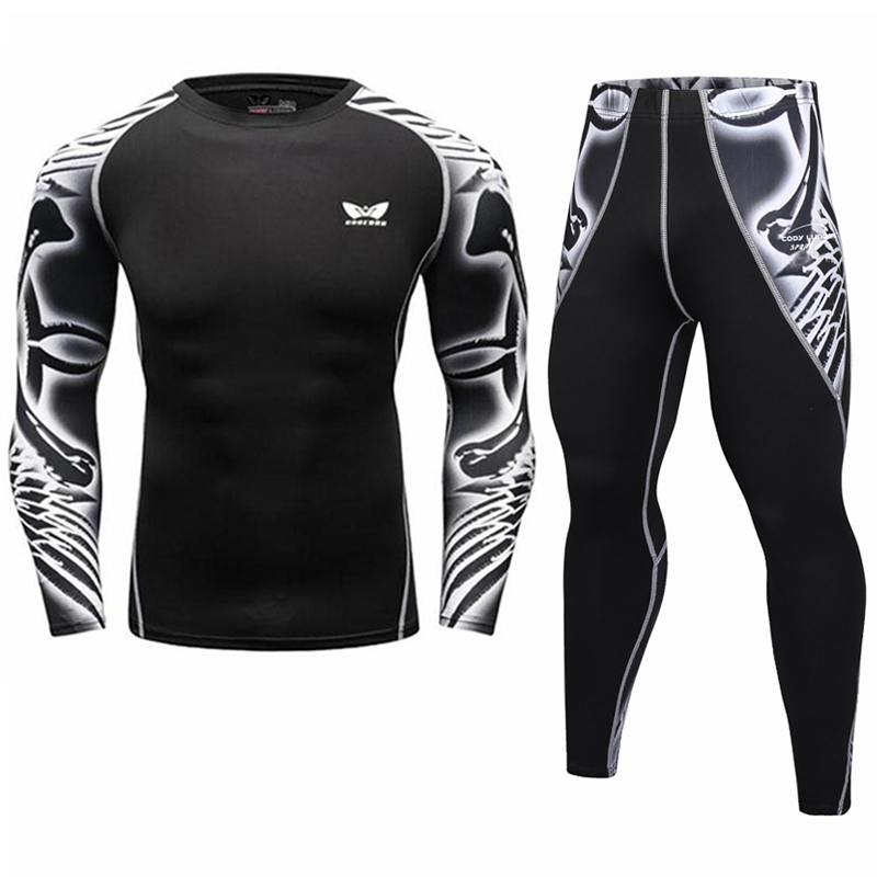 2017 herren kompression shirts 3d teen trikots langarm t-shirt fitness männer lycra crossfit t-shirts strumpfhosen marke clothing