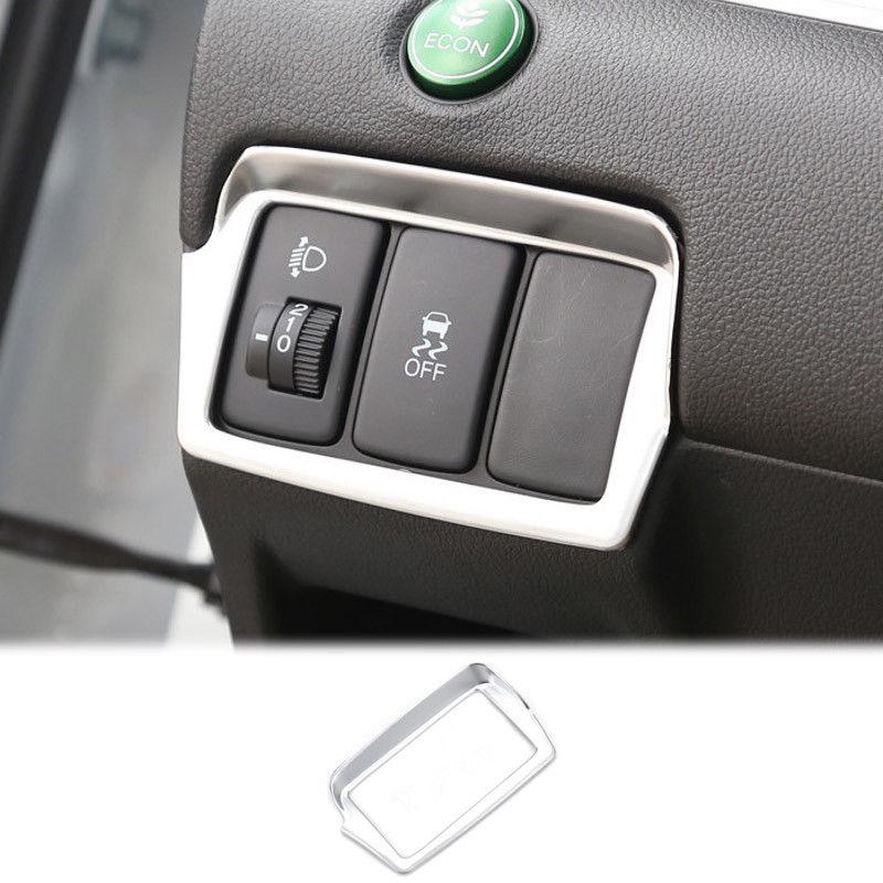 Chrome Matte Light Lamp Switch Adjustment Cover Trim For Honda CRV CR-V 2012 - 2016