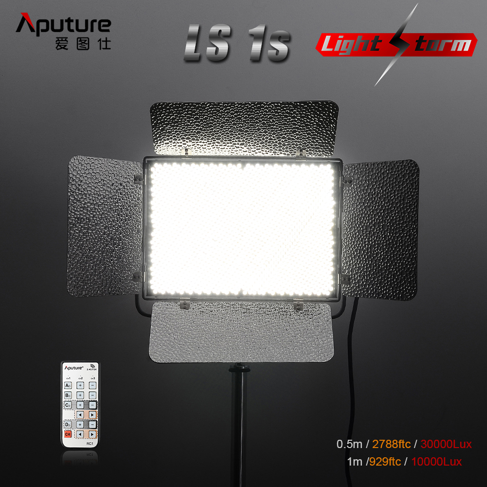 V-mount Plate Aputure Light Storm LS 1s 1536 SMD LED Video Studio Light Panel High CRI 95+ 5500K 120W 2.4G Remote P0023173 aputure vs 1 v screen digital video monitor