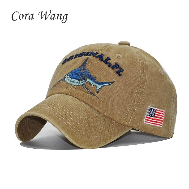 Cora Wang Mens Baseball Cap Women Snapback Hats For Men Bone Casquette Hip hop Brand dad hat Gorras Wash Cotton Shark caps