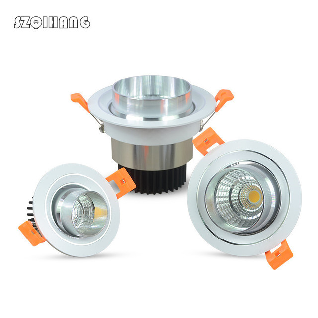 Dimmable Led downlight light COB Ceiling Spot Light 9W 12W 15W 85-265V ceiling recessed Lights Indoor Lighting