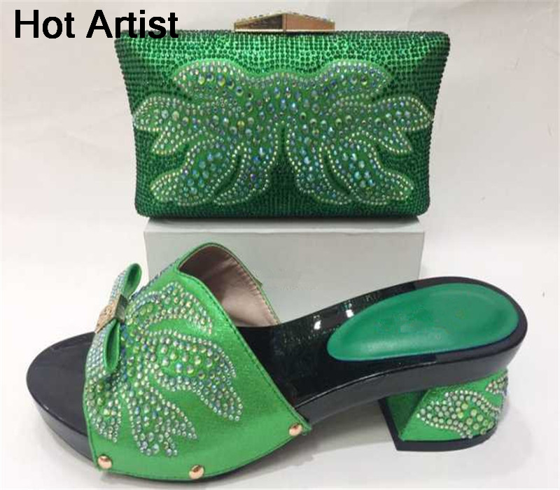 Hot Artist Latest Italian Style Shoes And Bag Set Nigerian Style Women High Heels Shoes And Bag To Match For Parties  Hot Artist Latest Italian Style Shoes And Bag Set Nigerian Style Women High Heels Shoes And Bag To Match For Parties