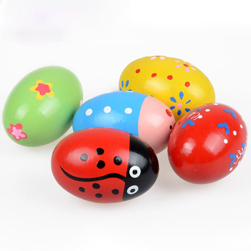 2018 New Wireless Instrument Toys for Girls boy Children Wooden Sand Eggs Instruments Percussion Musical Toys Kids Party Song
