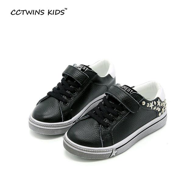 CCTWINS CRIANÇAS primavera outono crianças sapato de couro genuíno para menino moda studed sneaker trainer esporte da menina da criança