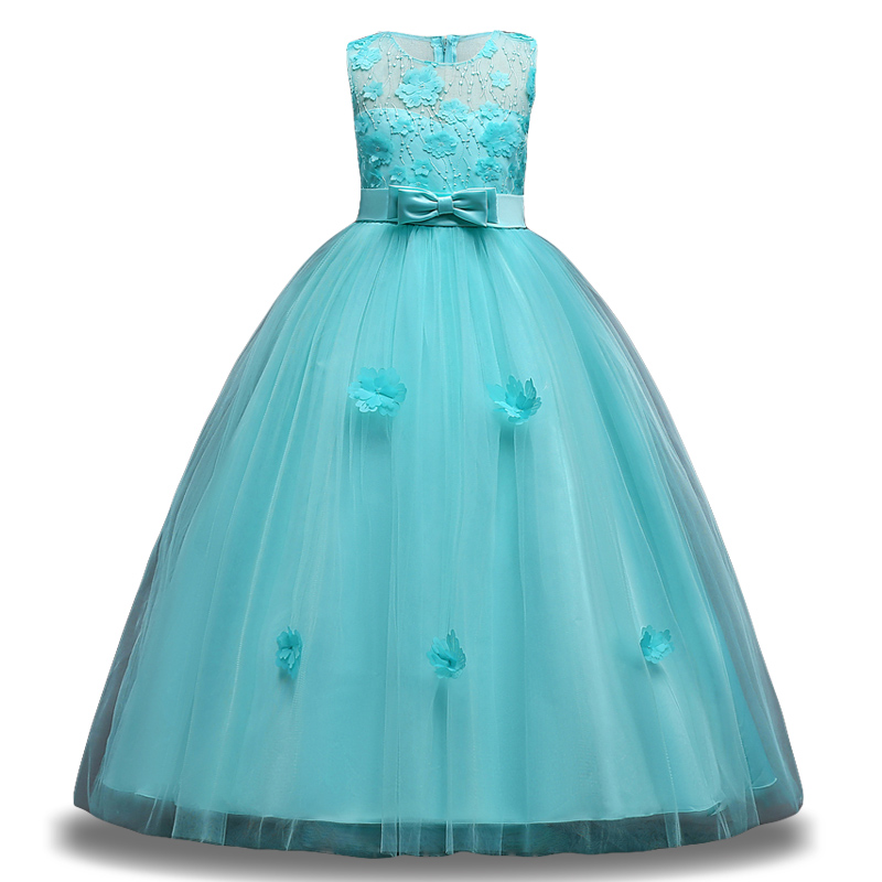 Elegant Girls Princess Dress Flower Girls Dress For Girls Wedding Dress Children Fancy Christmas Costume For Kids Party Dresses beautiful christmas girls dress children moana dresses for girls clothes chiffon party princess dress halloween costume for kids page 5
