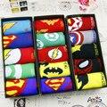 35-43 1 lote = 5 pairs calcetines MARVEL DC Comics ninguna caja hombre mujer niño niña verano parejas delgadas brillante Avengers alliance tobillo de dibujos animados