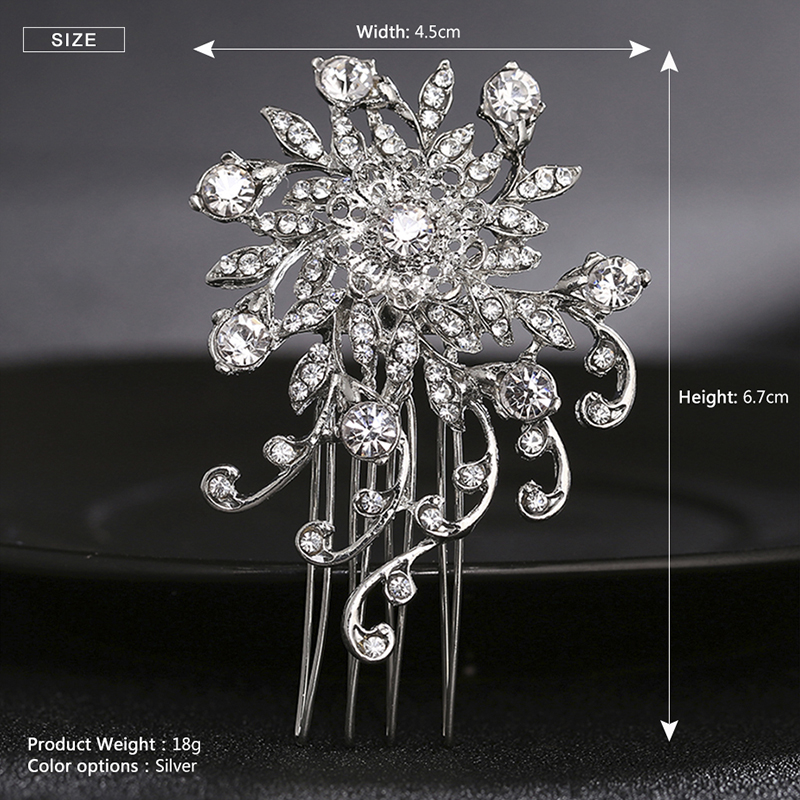 Miallo Hair Combs For Women Bridal Vintage Flower Pattern Rhinestones Hair  Clips Barrettes Tiaras Wedding Jewelry Accessories 4c06924a0565