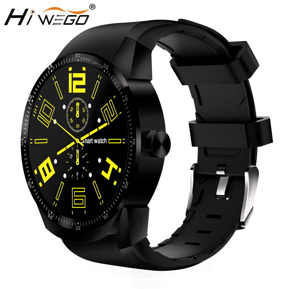 HIWEGO K98H 3G GPS Wifi Smart Watch Android 4.1 Support SIM Heart Rate Tracker 1.2GHz 4GB ROM Waterproof Bluetooth Smart Watch 3g wcdma pet gps tracker v40 waterproof intelligent wifi anti lost gps wifi electronic fence 3g gps tracker