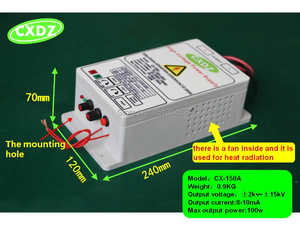 high voltage power supply generator with 15kV for air purification smoke oil dust electric purifiers ,air ionizer, field