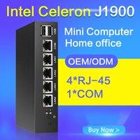 Tablet Fanless Mini Pc J1900 Quad Core 5 LAN Router Windows 7 8 8 1 10