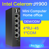 Tablet Fanless Mini Pc J1900 Quad Core 5 LAN Router Windows 7 8 8 1 10