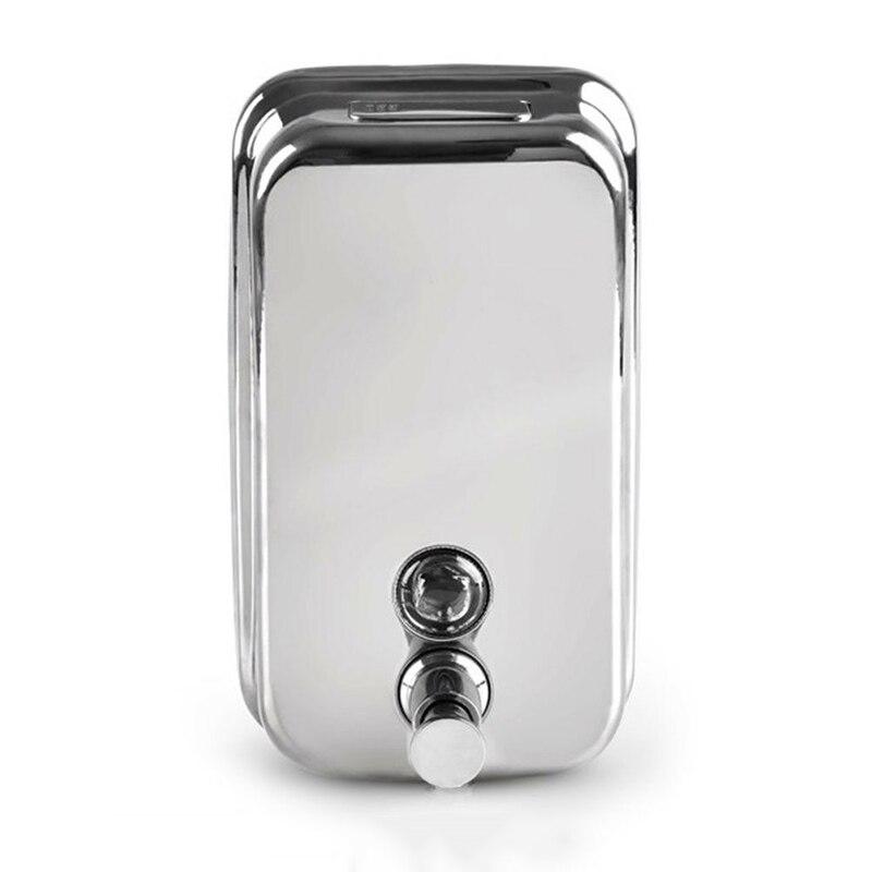 Alta Qualidade 500/800/1000ml Aço Inoxidável Dispensador de Sabão Shampoo Sabão/shampoo Dispenser Fixado Na Parede Do Banheiro ferramentas Peças