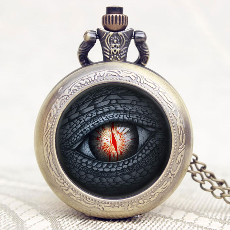 Hot Sales Dragon Eye Song of Ice and Fire The Game of Thrones Retro Design Pocket Watch All Men Must Die Vintage Quartz Watches game of thrones hear me roar lannister theme 3d bronze quartz pocket watch a song of ice and fire related product gift page 6