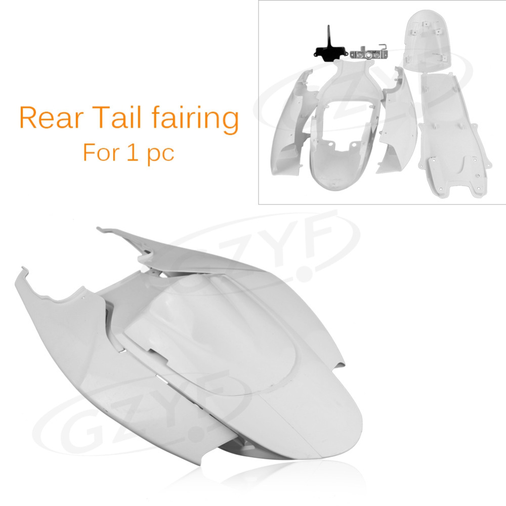 Injection Mold Tail Rear Fairing Cover Parts for Suzuki 2006 2007 GSXR 600 750 GSXR600 GSXR750 06 07 K6, ABS Plastic Unpainted motorcycle rear seat pillion passenger cover tail section solo fairing cowl for suzuki gsxr600 gsxr750 gsxr 600 750 2006 2007