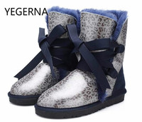 The 2016 NEW FASHION Section Of Winter Sheep Fur Boots Female Boots Winter Warm Shoes Slip